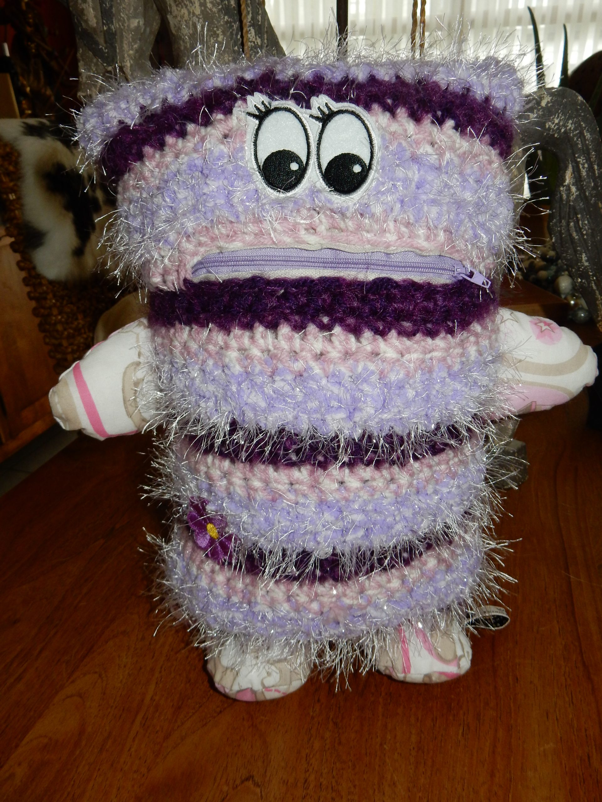 Fluffy Purple - white