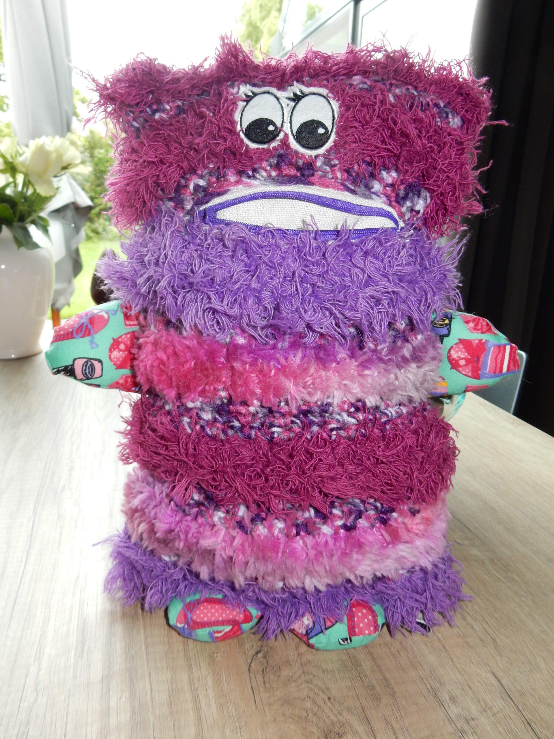 Fluffy pink -purple